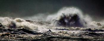 Monster of the Seas Beach Waves Panorama