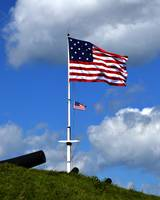 American Flags Flying Over Fort McHenry