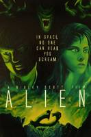 Alien Faux Movie Poster Painting