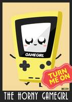 Horny Gameboy V3 poster Yellow