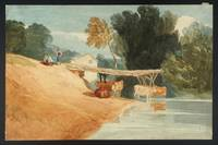 Attributed to John Sell Cotman Cows at a Pool, wit