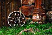 735-Still-life_with_an_old_wheel_and_barrel