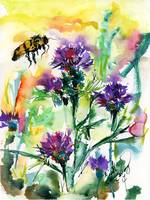 Milk Thistle and Bee Medicinal Florals