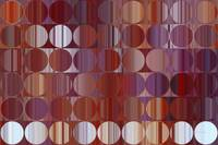 Circles and Squares 60. Red and Purple Panel