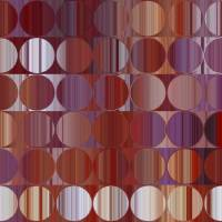 Circles and Squares 60. Red and Purple Panel Art Prints & Posters by Mark Lawrence