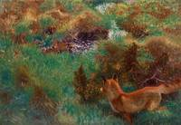 Bruno Liljefors, Fox stalking wild ducks, 1913