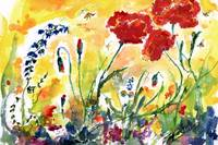 Red Poppies Provence 2017 watercolor