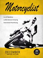 Motorcycle Magazine Carrell Speedway 1951