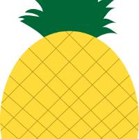 Yellow Pineapple with Green Leaves Art Prints & Posters by Valerie Waters