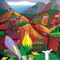 Mill Valley to Zen Gulch Art Prints & Posters by Charles Harker