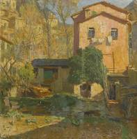 Carl Moll 1861 - 1945 AUSTRIAN LANDSCAPE IN THE RI