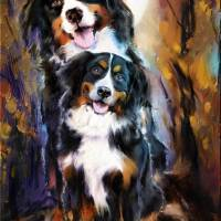 Dog family Art Prints & Posters by Melanie D