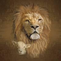 LionAndLambSprayedstrks Art Prints & Posters by Ken Chandler