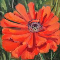 Garden 2016 #4 Poppy 2 AmyRieMcGuire Art Prints & Posters by Amy Rie McGuire