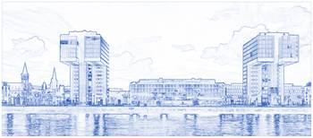 Blueprint Drawing of Modern Apartment Complex 85
