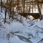 """bridge over a frozen creek"" by fjsjr"