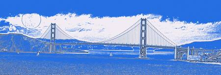 The Golden Gate Bridge in SFO California Travel Po