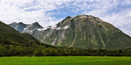 View of the mountains near Andalsnes in Norway
