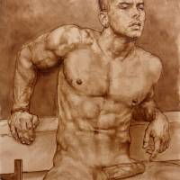 Male Nude #1 Art Prints & Posters by Julian Hsiung