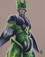 Perfect Cell Drawing by VinceArtz
