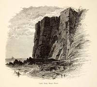 1894 Wood Engraving Castle Head Mount Desert Islan