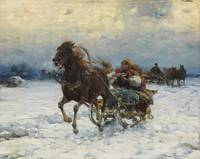 1910 (c) Merry ride in a sleigh (Merry Sleigh Ride