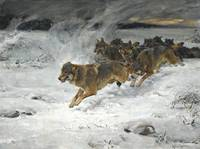 A Pack Of Wolves by Alfred Wierusz-Kowalski 1849-1
