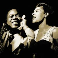 Louis Armstrong and Billie Holiday Portrait by I.M. Spadecaller