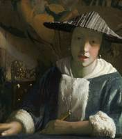Attributed to Johannes Vermeer's , Girl with a flu