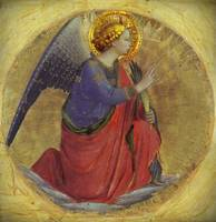 Kneeling Golden Annunciation Angel