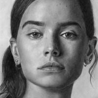 Daisy Ridley Pencll Drawing Portrait Art Prints & Posters by David Rives
