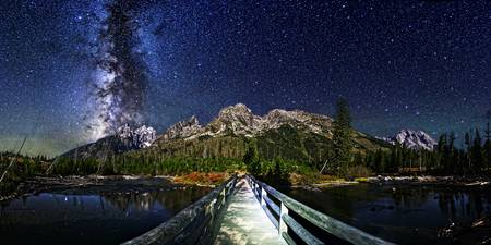Milky Way over Teton Bridge