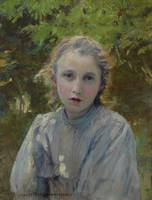 Charles Sprague Pearce Portrait of a Young Girl