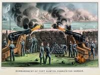 Currier and Ives, Bombardment of Fort Sumter, Char