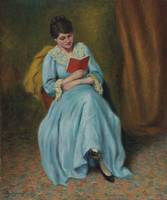 Federico Zandomeneghi,  Woman in Blue reading