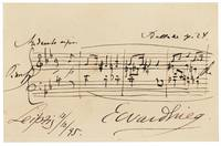 Grieg, Edvard AUTOGRAPH MUSICAL QUOTATION FROM THE
