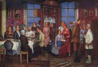 Housewarming Party Kuzma Petrov-Vodkin - 1937
