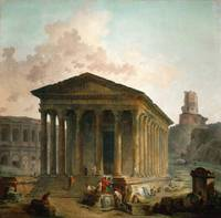 Hubert Robert 1733-1808, Maison Carré, the amphith