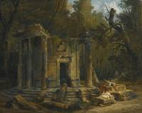 Hubert Robert 1733-1808, TEMPLE OF PHILOSOPHY AT E
