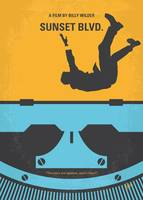 No813 My Sunset Blvd minimal movie poster
