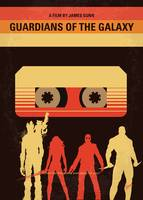 No812 My GUARDIANS OF THE GALAXY minimal movie pos