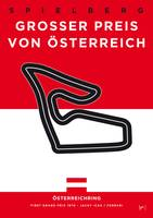 My F1 Osterreichring Race Track Minimal Poster