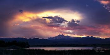 Long's Peak Sunset by Kelly Jones