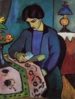 Lady Reading - August Macke