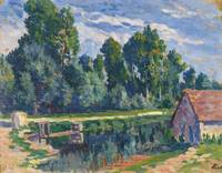 Maximilien Luce 1858 - 1941 AROUND MOULINEUX, HOUS