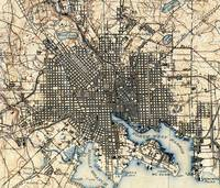 Vintage Map of Baltimore Maryland (1898)