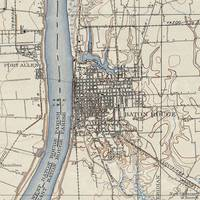 Vintage Map of Baton Rouge Louisiana (1906)