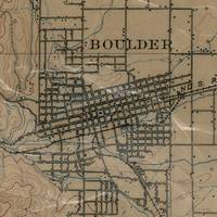 Vintage Map of Boulder Colorado (1904)