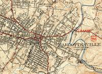 Vintage Map of Charlottesville Virginia (1949)