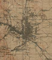 Vintage Map of Colorado Springs CO (1907)